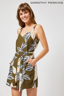 Dorothy Perkins Strappy Woven Playsuit