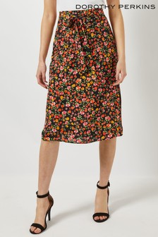 Dorothy Perkins Disty Tie Waist Midi Skirt