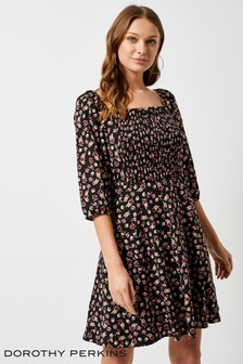 Dorothy Perkins Floral Shirred Dress
