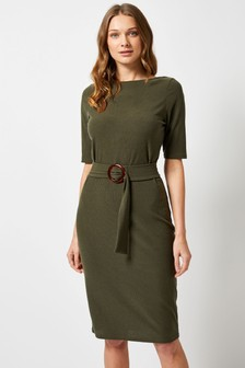 Dorothy Perkins Belted Scoop Back Bodycon Dress