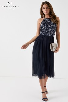 Angeleye Halter Neck Midi Dress