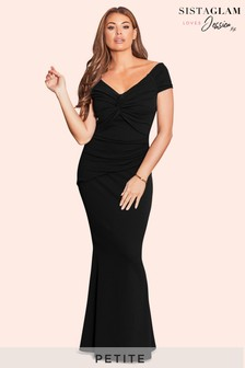 Sistaglam Loves Jessica Petite Ruched Maxi Dress