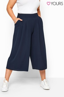 Yours Curve Double Pleated Culottes