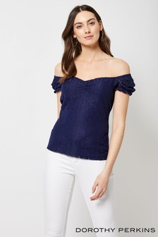 Dorothy Perkins Bardot Lace Top