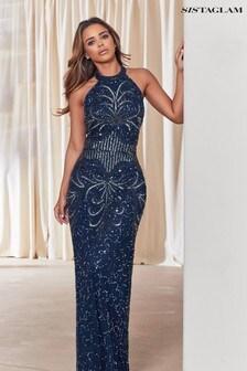 Sistaglam Halterneck Maxi Dress