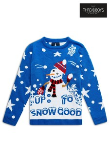 Threadboys 'Up To Snow Good' Snowman Christmas Jumper