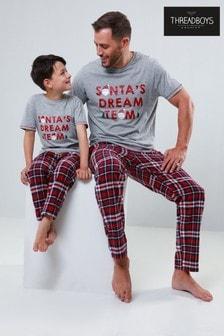 סט פיג'מה Santa's Dream Team של Threadboys