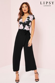 Lipsy 2-In-1 Floral Culotte Jumpsuit