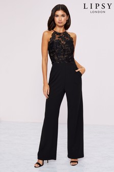 Lipsy Sequin Organza Built Up Jumpsuit