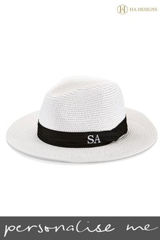 Personalised Straw Fedora Hat By HA Designs