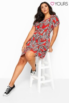 Yours Curve Tropical Print T-Shirt Dress