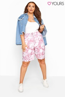 Yours Curve Tie Dye Jogger Shorts