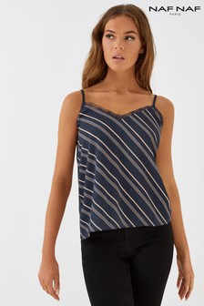 Naf Naf Vertical Striped Cami Top