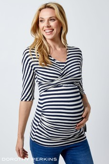 Dorothy Perkins Maternity Striped Nursing Top