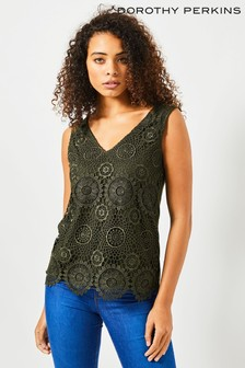 Dorothy Perkins Tall Guipure Lace Vest