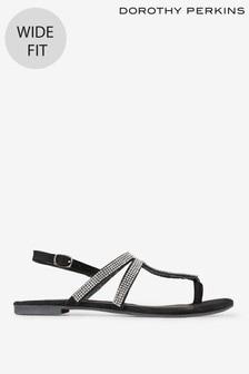 Dorothy Perkins Faraway T-Bar Wide Fit Sandals