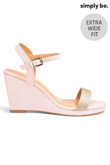 Simply Be Extra Wide Fit Wedged Heel Sandal