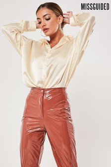 Missguided Basic Satin Shirt