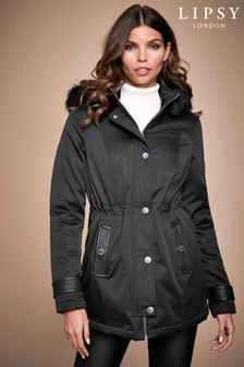 Lipsy Smart Faux Fur Trim Parka