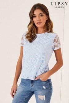 Lipsy Lace T-Shirt