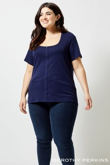 Dorothy Perkins Curve Button Down Top