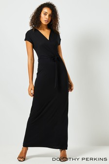 Dorothy Perkins Tall Wrap Jersey Maxi Dress