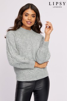 Lipsy Volume Sleeve Cable Jumper