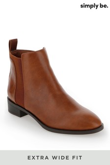 Simply Be Extra Wide Fit Basic Chelsea Boots