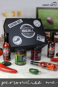 Personalised Hot Headz Hot Sauce Box by Great Gifts