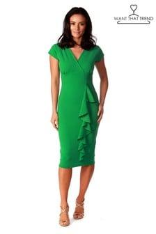 Want That Trend Ruffle Midi Dress