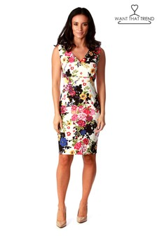 Want That Trend Floral V neck Dress