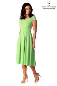 Want That Trend Bardot Skater Dress