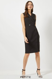 Dorothy Perkins Petite Wrap Tux Sleeveless Dress