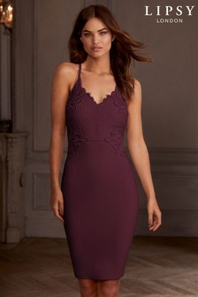 Lipsy Appliqué Bodycon Midi Dress