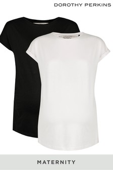 Dorothy Perkins Maternity Roll Sleeve Tees – Pack of 2