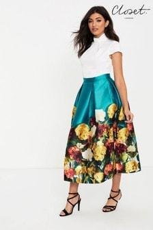 Closet 2 in 1 Floral Cap Sleeve Dress