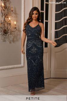 שמלת מקסי מעוטרת בגזרת פטיט ללא שרוולים של Sistaglam