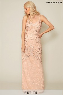 Sistaglam Petite Embellished Sleeveless Maxi Dress