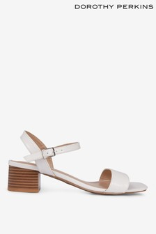 Dorothy Perkins Square Toe Block Wide Fit Sandals