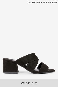 Dorothy Perkins Wide Fit Crossover Mules