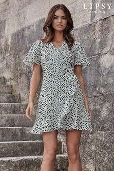 Lipsy Printed Wrap Mini Dress
