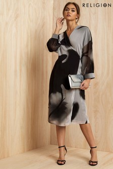 Religion Wrap Dress