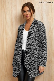 Religion Animal Print Cardigan