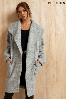 Religion Oversized Coat