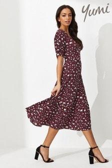Yumi Animal Print Midi Dress