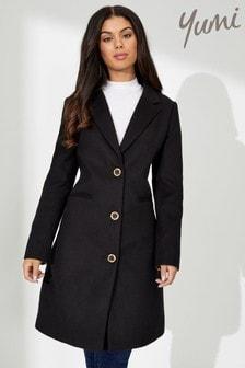 Yumi Leopard Print Lined Coat
