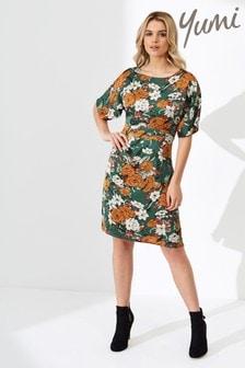 Yumi Floral Kimono Sleeve Dress