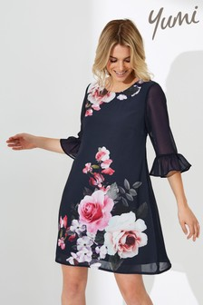 Yumi Rose Placement Tunic Dress