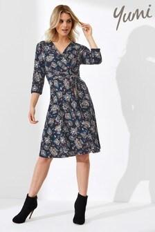 Yumi Floral Jersey Wrap Dress