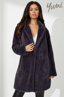 Yumi Faux Fur Collar Coat